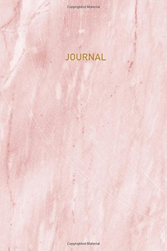 Journal: 120 Blank Lined Page, 6x9 Inches, Beautiful Pink Marble Journal (Volume 10)