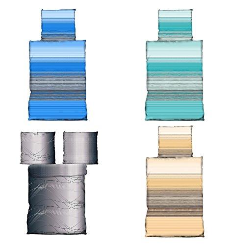 Wasserbetten-Markenshop Bettwäsche 135×200 cm Microfaser in 4 Designs, 2X 135×200 2X 80×80,
