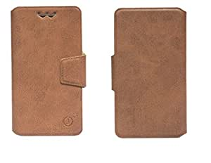 J Cover Sylvester Series Leather Pouch Flip Case With Silicon Holder For ZTE Nubia Z5S Brown