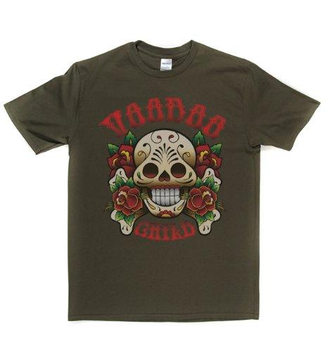 Rough Justice Voodoo Child Classic Rock Musik Legends Retro-T-Shirt Militär-Grün