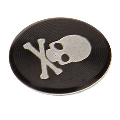 zzll151 Red Skull Print Alloy Home Button Sticker für iPhone / iPad / iPod KKKAOOL (Home Ipod Für Sticker 4)