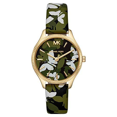 MICHAEL KORS Damen Analog Quarz Uhr mit Leder Armband MK2811