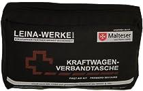 Leina 73602 Verbandtasche DIN 13164 mit Rettungsdecke (sortiert - schwarz / rot)  Von Leina
