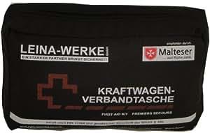 Leina 73602 Verbandtasche DIN 13164 mit Rettungsdecke (sortiert – schwarz / rot): Leina