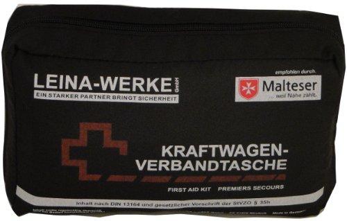 erste hilfe auto set Leina 73602 Verbandtasche, Schwarz/Rot