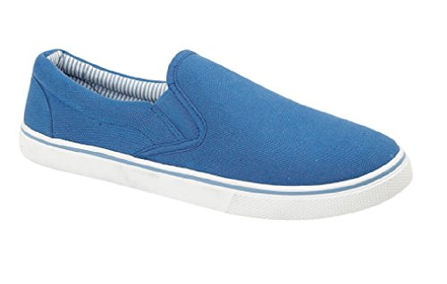 Uomo slip on scarpe estate Royal Blue