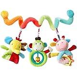 HENGSONG Bebe Hochets Jouets Poussette Spiral Hanging Jouets éducatifs Multifonction Peluches Lit Autour Elephant