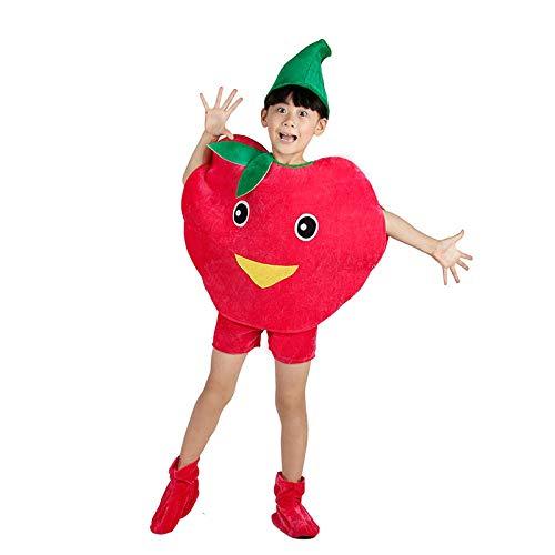 Kostüme Kinder Party Cosplay Kleidung Für Kinder Kostüm Party Jungen Mädchen (Red Apple) ()