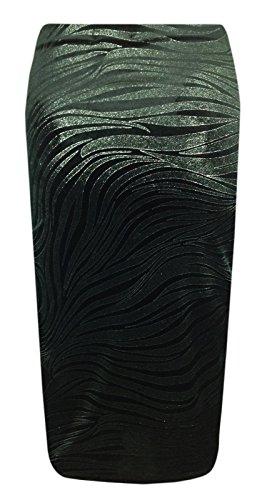Generic Damen T-Shirt - Velvet Spiral Midi Skirt