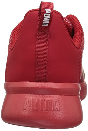 PUMA Unisex-Kids Tishatsu Runner Sneaker  Black White  2 M US Little Kid