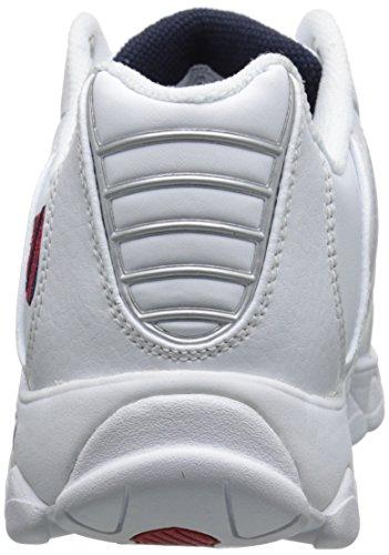K-Swiss Mono Cuir Baskets White / Navy / Red