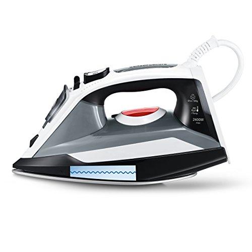 Bosch Sensixx'x DA30 - Plancha (Plancha vapor-seco, Suela Ceranium Glissée, 2 m, 180 g/min, Negro, Transparente, Blanco, 40 g/min)