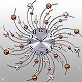Moderne Designer Quartz Wanduhr - Uhr - Küchenuhr - braun