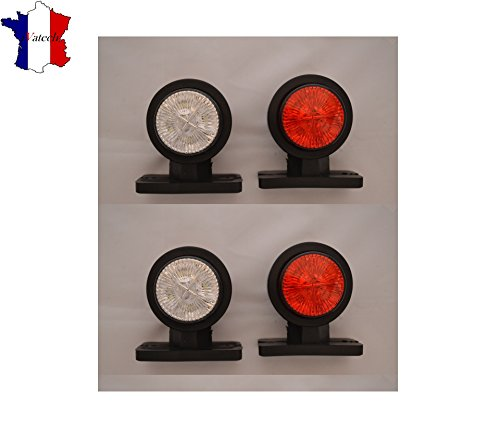 4X 12V SMD LED ROUGE BLANC FEUX DE GABARIT POSITION