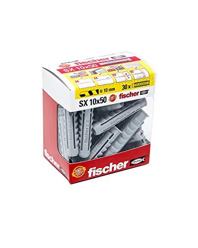 FISCHER Taco SX 10x50 (Caja de 30 Ud.), 511946, Gris