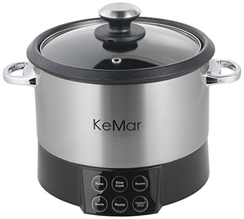 KeMar KMC-218 Ottima macchina per cucinare multifunzione con inserto per mescolare.Per la pasta, risotti e riso. Pentola automatica per pasta al dente