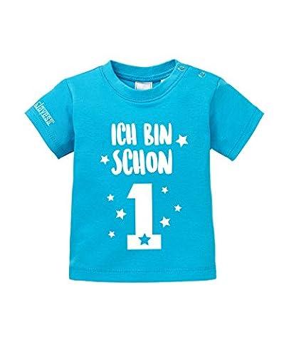Geburtstag - Ich bin schon 1 - BABY Blau - T-SHIRT by Jayess-Baby Gr. 80/86