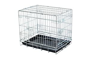 """small 24"""" strong dog cage non chip silver dog cage by Doghealth ck24"""