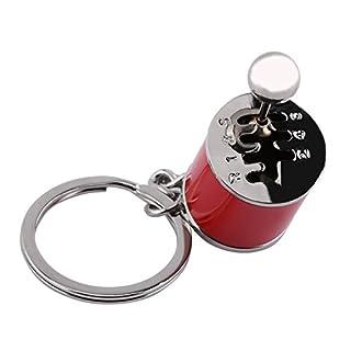 Kreatives Auto Teil Modell Getriebe Schalthebel Keychain Schlüsselanhänger Ring(Rot)