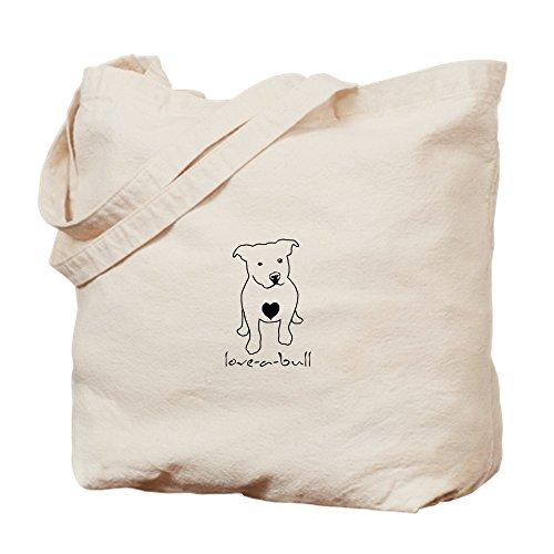 Bing love-a-bull Pit Bull–Leinwand Natur Tasche, Reinigungstuch Einkaufstasche (Leinwand Bull Drucken)