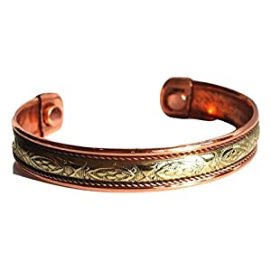 Krystal Gifts UK Reiki Energie Geladene Kupfer Chakra Balancing Armband (Design 2)