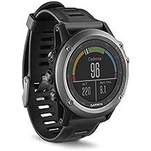 Garmin  Fenix 3 - Reloj multideporte con GPS y correa, Reloj Gris/Correa Negra, Talla única