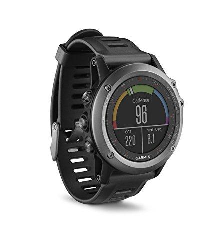 """Garmin Fénix 3 - Reloj multideporte con GPS, Pantalla 1.2"""", sin sensor de frecuencia cardiaca, Gris/Negro"""
