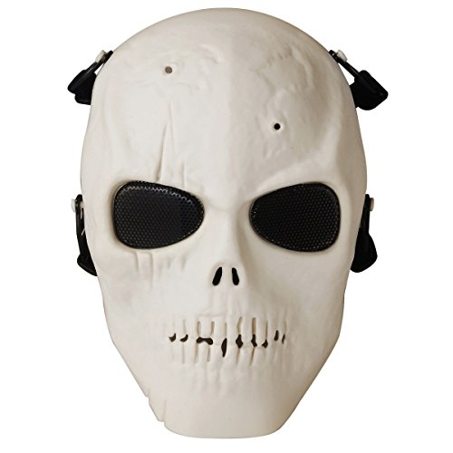 Fansport Paintball Vollmaske Cosplay Maske Schädel Skelett Halloween Kostüm Party Maske