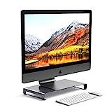 SATECHI Universal-Unibody-Monitor-Erhöhung aus Aluminium kompatibel mit 2017 MacBook Pro, iMac Pro, Google Chromebook, Microsoft Surface, 2018 Mac Mini und andere (Grau)