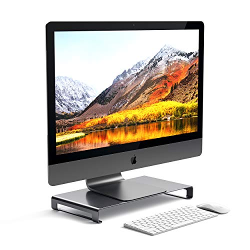 Satechi Universal Unibody Monitorständer aus Aluminium, kompatibel mit 2017 MacBook Pro, iMac Pro, Google Chromebook, Microsoft Surface, Dell, Asus und mehr (Space Grey)