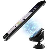 ICHECKEY support magnétique téléphone voiture avec rotation de 360 degrés attache universel pour iphone/Samsung/Huawei ou tous les autres smartphone métallique (noir)