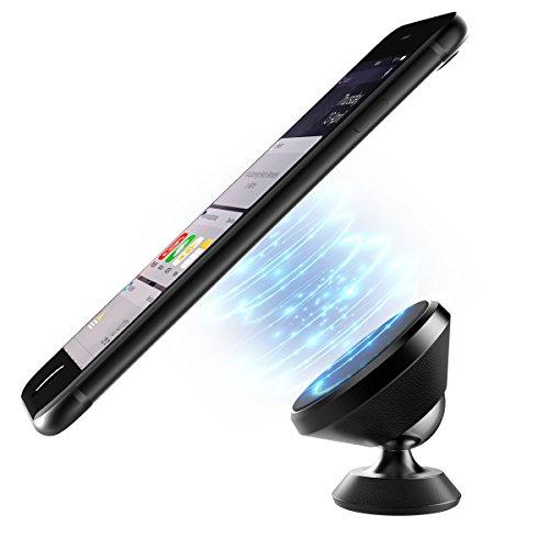 ICHECKEY universel support magnétique voiture accroche téléphone portable magnetique attache aimant smartphone accessoire pour iphone x 8 7 6 6s 5s se samsung galaxy s8 g3 a5 lg wiko c5 (noir)