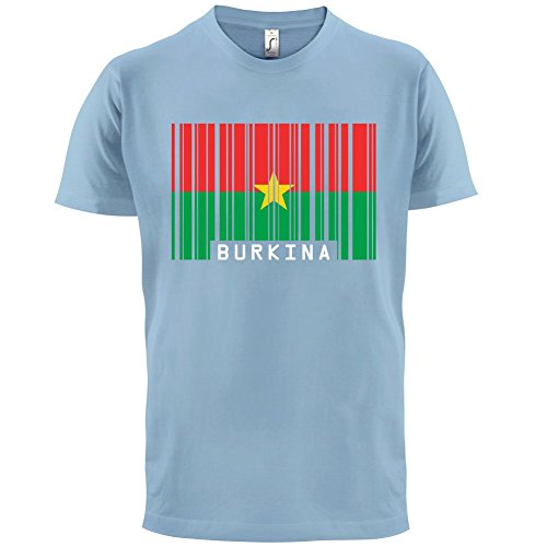 Burkina Faso Barcode Flagge - Herren T-Shirt - 13 Farben Himmelblau