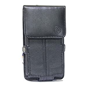 Jo Jo A6 G12 Series Leather Pouch Holster Case For Samsung Galaxy J1 (2016) Black