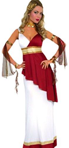 Von Erwachsenen Kostüme Kaiserin Rom (Karnevalsbud - Damen Kostüm Kaiserin Rom Emperial Empress Robe Kleid, Mehrfarbig, Größe)