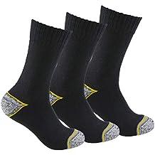INNOVA LINE (WORK) Calcetines de Trabajo (3 Pares) SIN Costuras para Todo el año, con talón y Puntera Reforzados, Ideal para el Uso con Calzado de Seguridad ...