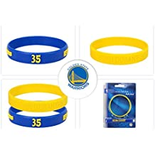 eDelivery NBA Sports Silicon Bracelet 2 Pieces Yellow and Blue | Steph Curry or Kevin Durant