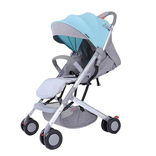 Leichter mit Allraddämpfer Buggy, tragbarer zusammenklappbarer Kinderwagen für Neugeborene, Mädchen und Jungen, einhändig zusammenklappbar, für Flugreisen geeignet (0-3 Jahre)