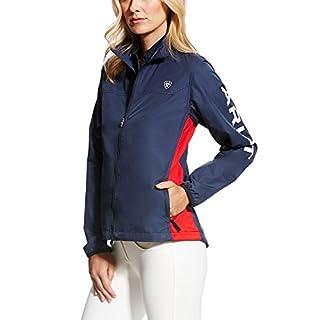 Ariat Ideal Windbreaker Womens Team Jacket - Navy/Red: Medium