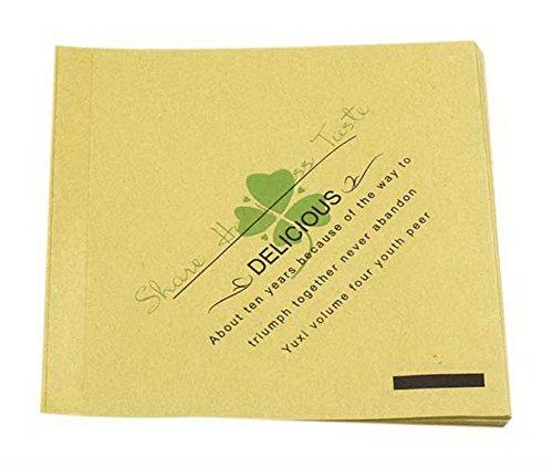 Spicy Meow 100 Pack Clover Print Dreieck Anti-Öl Kraftpapier Taschen für Donut Sandwich Kuchen