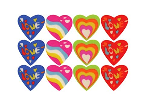 1008 pcs! Whole Box of MINI Heart shaped RUBBER/ERASER (84 Bags of 12) Party Bag Stationery Toy