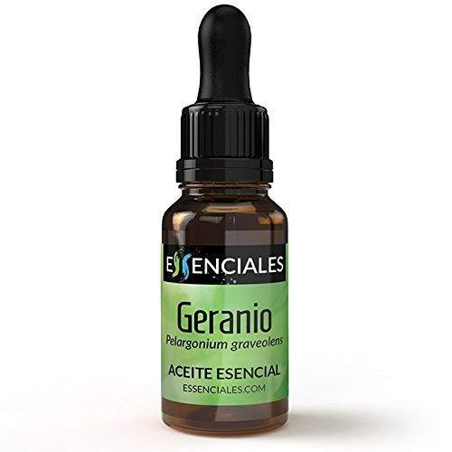 Essenciales - Aceite Esencial de Geranio, 100% Puro, 10 ml | Aceite Esencial Pelargonium Graveolens