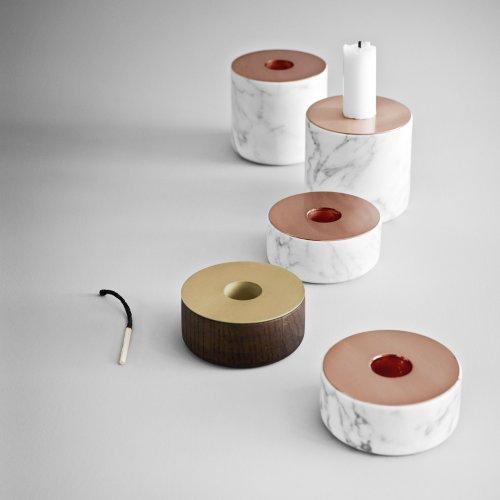 Menu 5610039 Kerzenständer Chunck aus Holz, M, Messing, Höhe 7 cm, Durchmesser 8 cm - 4