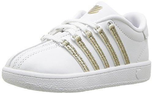 K-Swiss Classic VN Sneaker, white/sparkle, 3 M US Infant