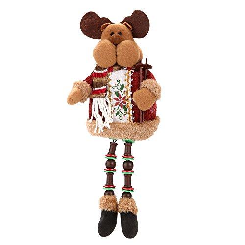 Forepin® 1 x Regali di Natale Morbidi Peluche Bambola di Natale Decorazioni Casa Ornaments Regalo di Compleanno di Xmas 32cm * 13cm (Alce)