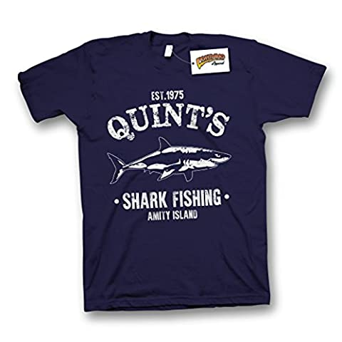 Quints Shark Fishing Inspired by Jaws Premium Soft Cotton T-Shirt