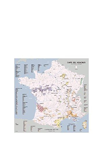 L'Atelier Du Vin 56734 Karte französischer Weinberge