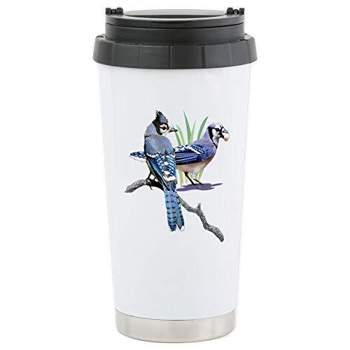 CafePress-Blue Jays Edelstahl Trave-Thermobecher Edelstahl, isoliert 16Oz Coffee Tumbler