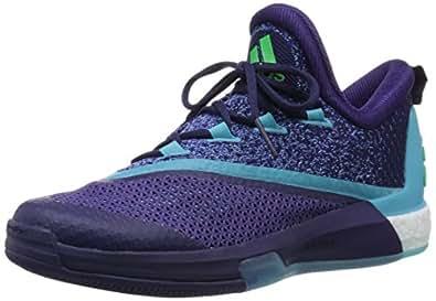 adidas Crazylight Boost 2.5 Low, Espadrilles de Basket-Ball Homme - Différents Coloris - Violet/Bleu/Rose (Violet foncé (Dark Purple)/Bleu Brillant/Rose Shocking), 40 EU
