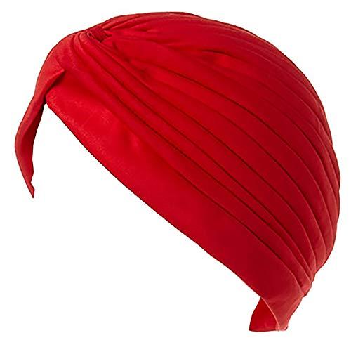 Evil Wear Turban Herren Muetze Damen Sultan Cap indische Scheich Kostüm Stoff-Mützen viele Farben Shanka. Bollyw. Hats 4867: Farbe: rot ()